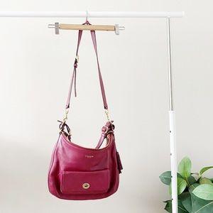 COACH burgundy shoulder / crossbody bag